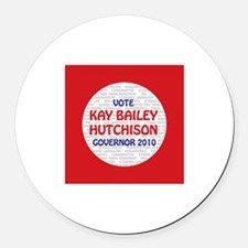 Kay Bailey Hutchison Round Car Magnet