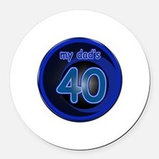 Dad's 40th Bday Round Car Magnet