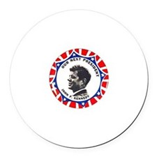 JFK - Round Car Magnet