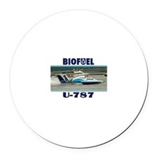 U787 Biofuel Round Car Magnet