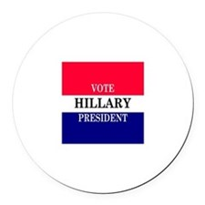 VOTE HILLARY Round Car Magnet