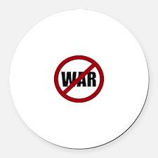 No War Round Car Magnet