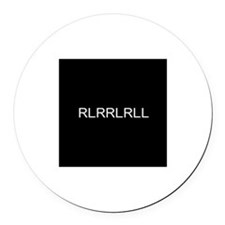 Rlrrlrll Round Car Magnet