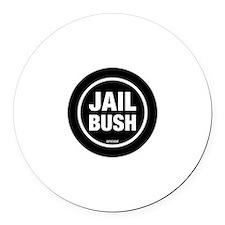 Jail Bush Round Car Magnet