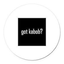 Got Kabob Round Car Magnet