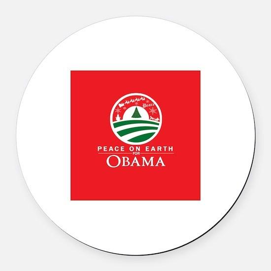 Unique Obama holiday Round Car Magnet