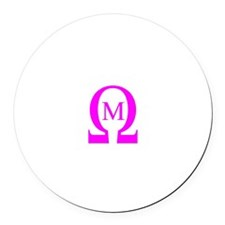 Omega Mu Round Car Magnet