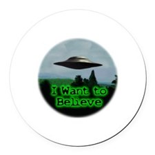 I Want To Believe Round Car Magnet
