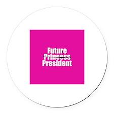 FUTURE PRESIDENT Round Car Magnet