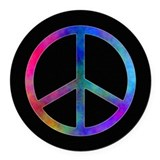 Peace sign Round Car Magnets