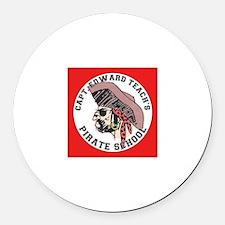 Pirate School Round Car Magnet