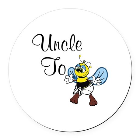 Uncle To Bee Round Car Magnet