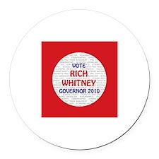 Rich Whitney Round Car Magnet