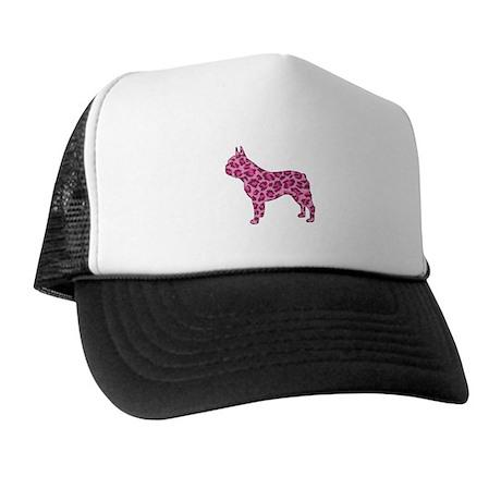 Pink Leopard Frenchie Trucker Hat