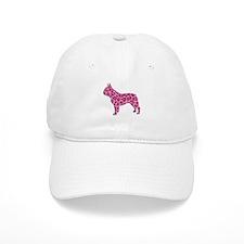 Pink Leopard Frenchie Baseball Baseball Cap