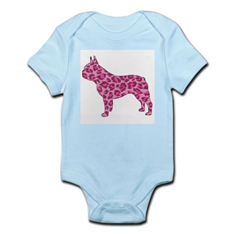 Pink Leopard Frenchie Infant Creeper
