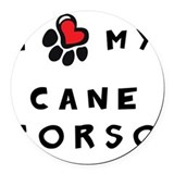 Cane corso Round Car Magnets
