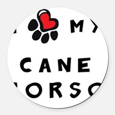 I *heart* My Cane Corso Round Car Magnet