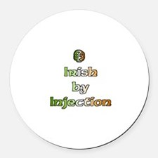 Irish by Injection Round Car Magnet