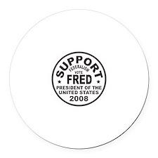 Fred Thompson Federalism Round Car Magnet