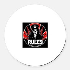 RULES 1 Round Car Magnet