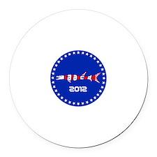 2012 USA Round Car Magnet