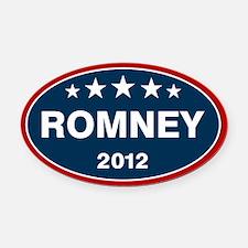 Romney 2012 [blue] Oval Car Magnet