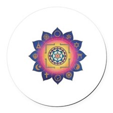ALL RELIGIONS Round Car Magnet