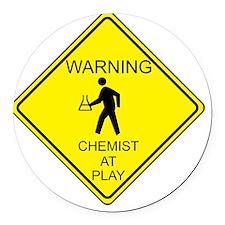 Chemist Round Car Magnet