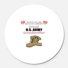 Proud US Army Grandmother Round Car Magnet