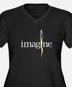 imagine Women's Plus Size V-Neck Dark T-Shirt