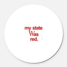 state red Bush Election Voted Round Car Magnet