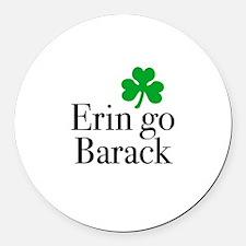 Erin go Barack Round Car Magnet