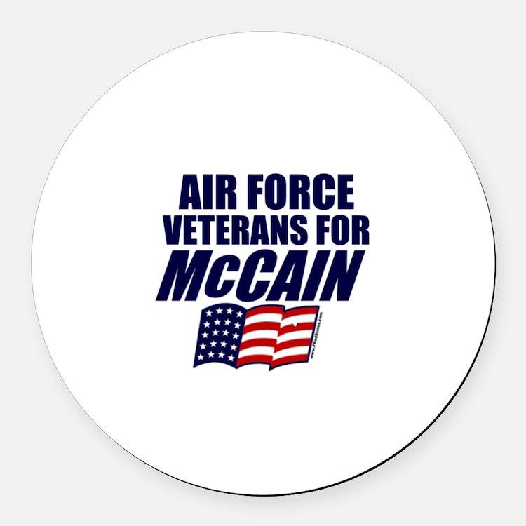 Airmen for McCain Round Car Magnet