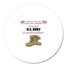 Proud US Navy Grandmother Round Car Magnet