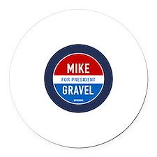 Classic Gravel Round Car Magnet