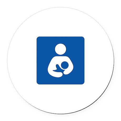 Breastfeeding Symbol Round Car Magnet