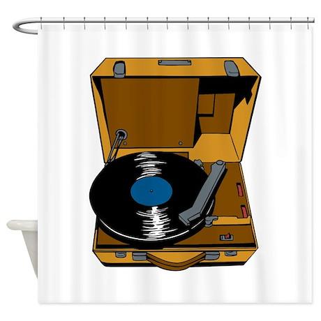 Music Vinyl. Shower Curtain