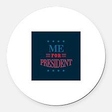 Cute President Round Car Magnet