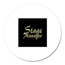 Stage Manager Round Car Magnet