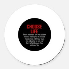 Choose Life, Iraqis, soldiers Round Car Magnet