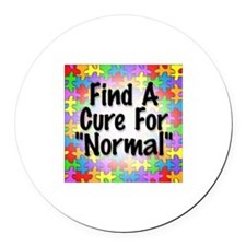 Cure Normal Round Car Magnet