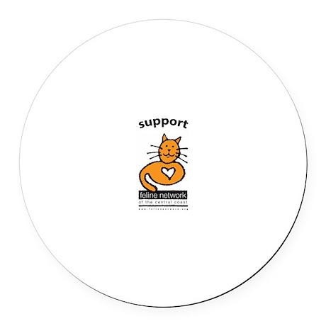 Feline Network Logo - Round Car Magnet