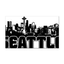 Seattle Skyline Rectangle Car Magnet