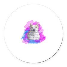 Chief - purple Round Car Magnet
