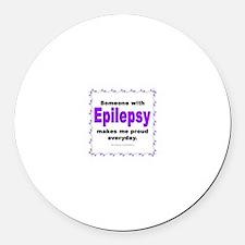 Epilepsy Pride Round Car Magnet