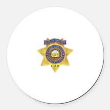 Kern County Sheriff Round Car Magnet