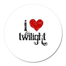 I Heart Twilight Round Car Magnet