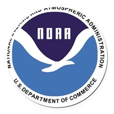 NOAA Round Car Magnet