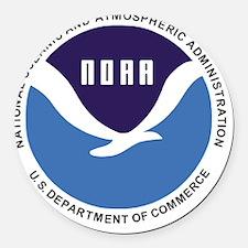 NOAA Round Car Magnet